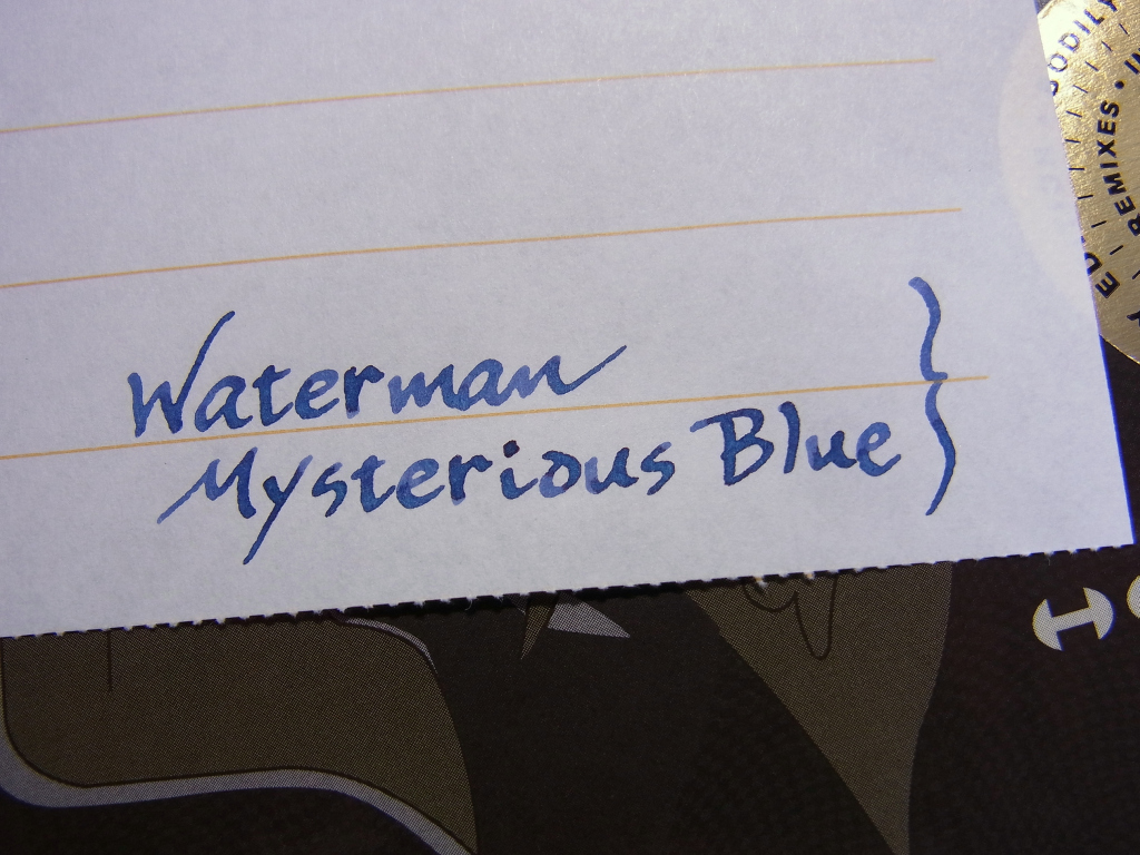 Montblanc 149 (B) + Waterman Mysterious Blue handwriting