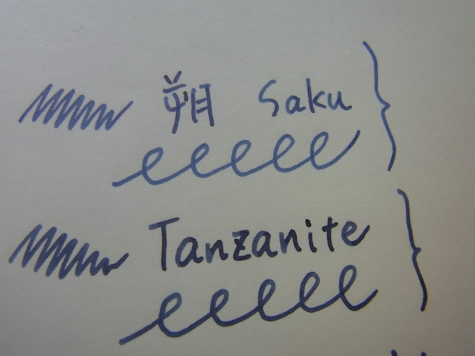 Pen and message. - Saku and Pelikan Tanzanite