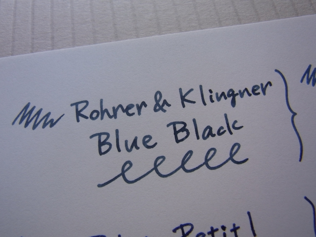 Rohrer & Klingner Blue-Black Handwriting