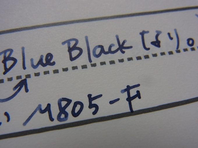 Pelikan Blue Black handwriting on Ink Journal (zoom)