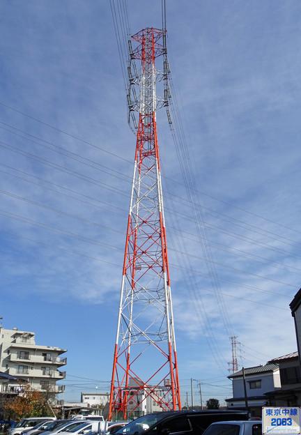 写真: 東京中線2063号鉄塔