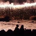 写真: 川の花火