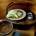 Photos: 貝殻焼き タラとネギとエノキとフキのとう
