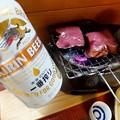 ビールと牛タン