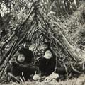 山で遊ぶ子供たち