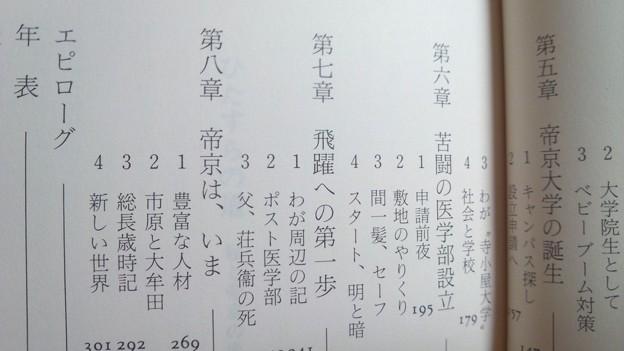 Photos: もくじ2 ひたすらの道 私と帝京の半世紀 沖荘一