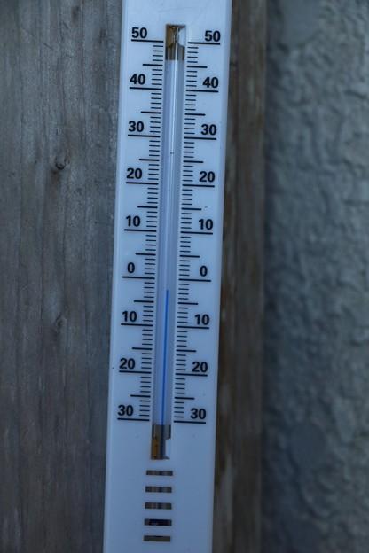 山頂今朝の温度AM:7時53分