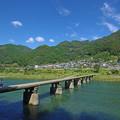 Photos: 秋晴れ沈下橋