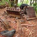 写真: そのままの残骸