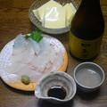 Photos: RIMG4516周南市、純米酒中島屋とヒラメのお造りと卵豆腐