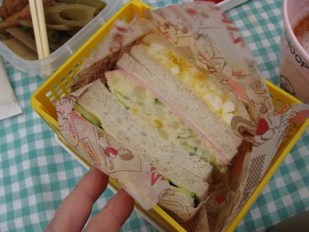 お弁当はサンドイッチ