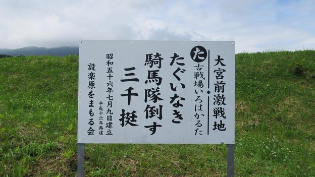 長篠設楽原合戦場(新城市)大宮前激戦地