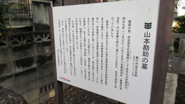 長谷寺(豊川市)山本勘助墓(遺髪塚)