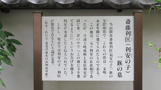 崇福寺(岐阜市)斎藤利匡一族墓