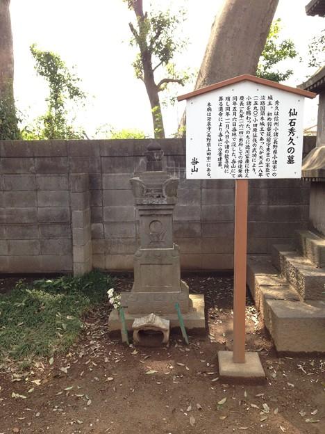 Photos: 勝願寺(鴻巣市)仙石秀久墓