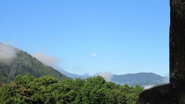 河村城(足柄上郡山北町)月と見えない富士