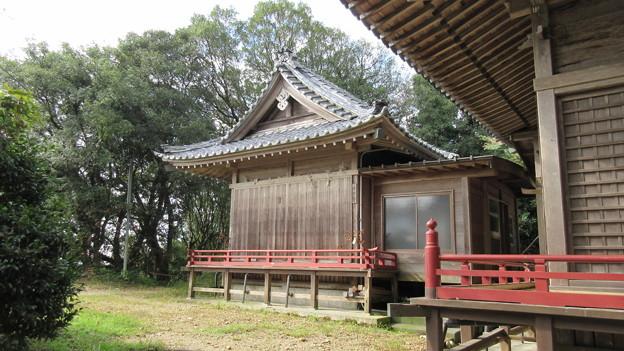 高天神城(掛川市)高天神社神楽殿・西の丸