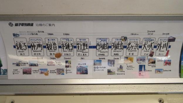 銚子電鉄(銚子市)車内路線図