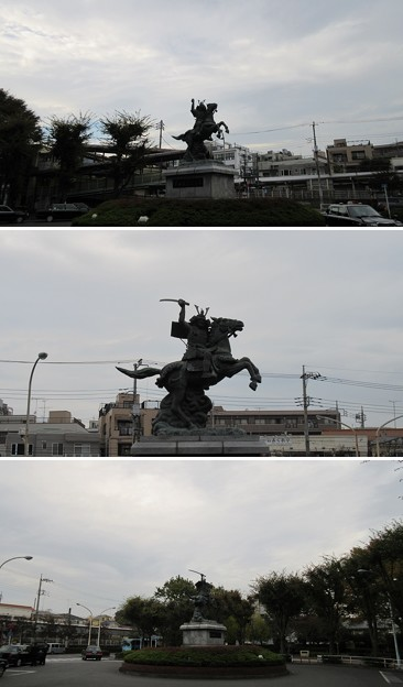分倍河原古戦場(府中市)分倍河原駅ロータリー