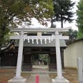 写真: 小野神社(多摩市)南鳥居・南門