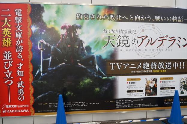 コミケ90 国際展示場駅構内 天鏡のアルデラミン 壁面広告