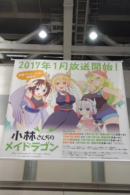 Photos: コミケ91 東京ビックサイト 小林さんちのメイドラゴン 広告フラッグ