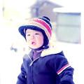 写真: 雪とわたし