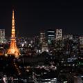 写真: 東京夜景 東京タワー