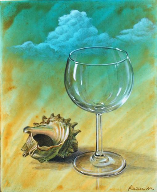 グラスとサザエ