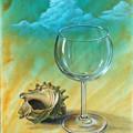 写真: グラスとサザエ