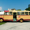 写真: 豊後高田市のボンネットバス