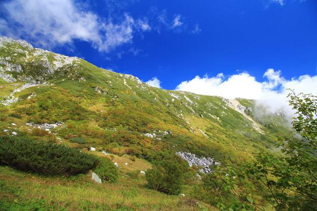 伊那前岳の稜線