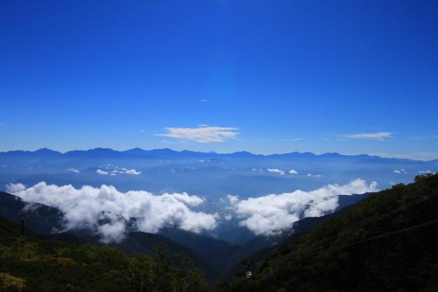 南アルプス高峰群と富士山