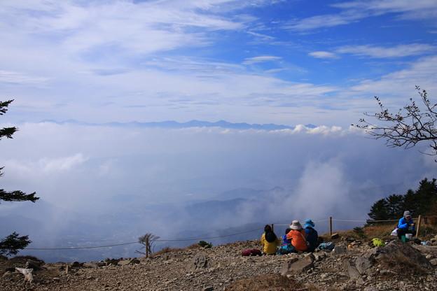 雷岩付近からの南アルプス遠景