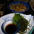 Photos: 塩ゆで落花生と海ぶどう。