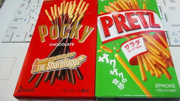 結局、両方買いました。 #ポッキーフォト #ポッキープリッツの日