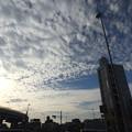 空と雲とビル