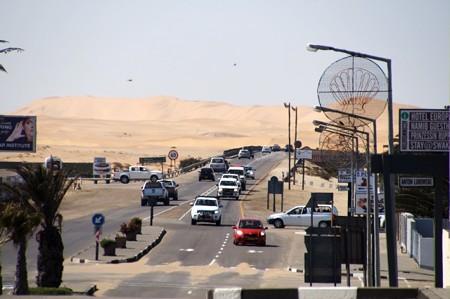 砂丘の見える町