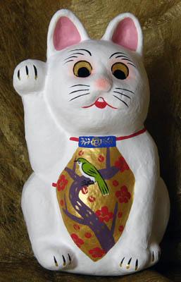花札柄腹掛け招き猫-3
