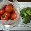 Photos: 150305-1 いただいたトマトとブロッコリー