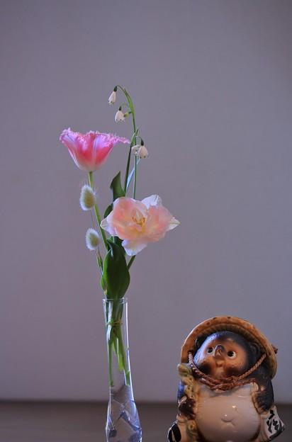庭のお花を生けました。
