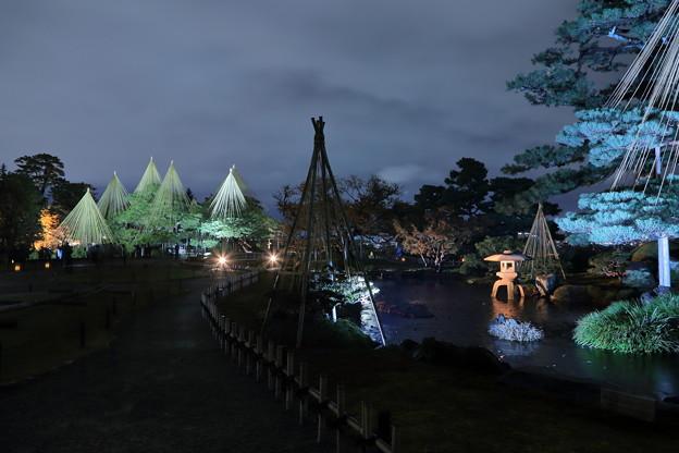 唐崎松と曲水 七福神山
