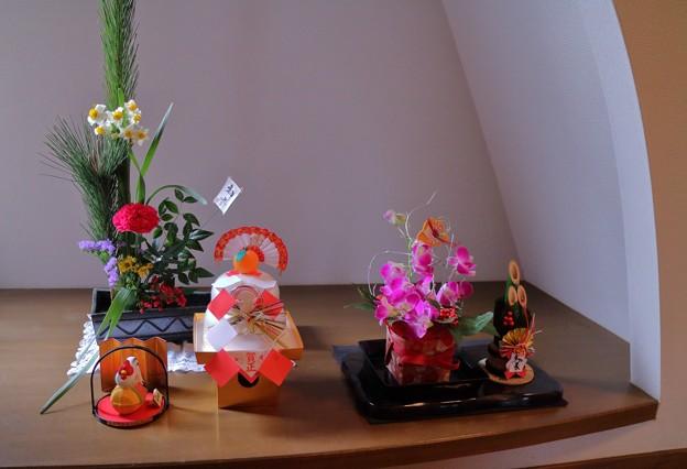 お正月の生け花(1)