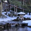 Photos: 雪の兼六園 雁行橋
