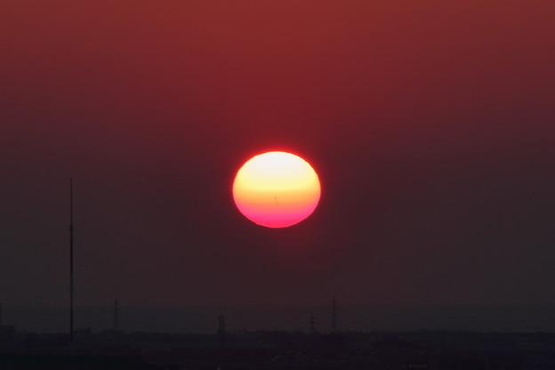 夕陽と日本海
