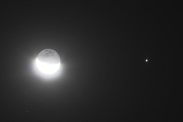 月と木星とガリレオ衛星