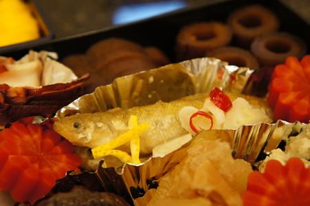 公魚の南蛮漬け、京人参の小菊