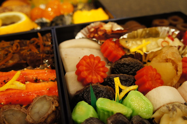 写真: 角山の生麩、子持ち椎茸、海老芋、