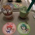 写真: 巻ちゃんドリンクと新開さんデザート