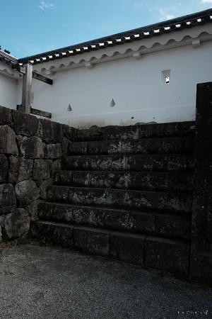 07小田原城_二の丸_塀に登る階段-1973